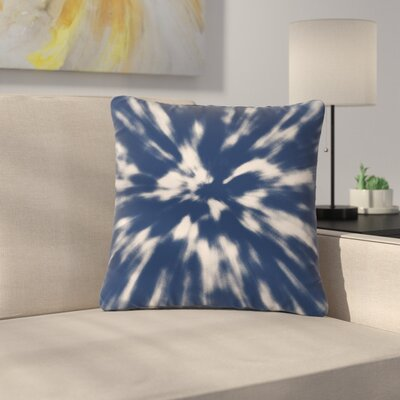 Nika Martinez Spring Tie Dye Outdoor Throw Pillow Color: Blue, Size: 18