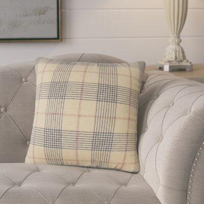 Harriette Plaid Throw Pillow Color: Brown