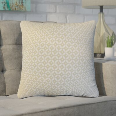 Zephyranthe Geometric Cotton Throw Pillow Color: Linen