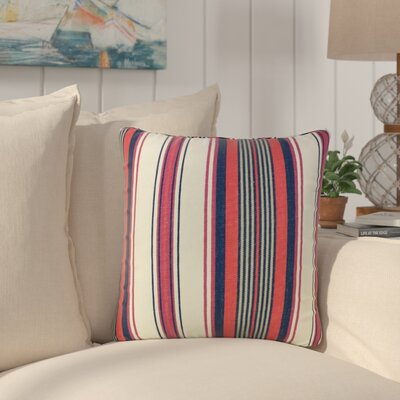 Ilona Striped Down Filled 100% Cotton Throw Pillow Size: 22 x 22, Color: Multi