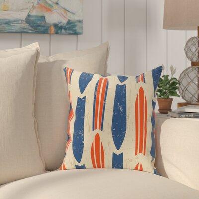 Golden Beach Dean Geometric Outdoor Throw Pillow Size: 20 H x 20 W, Color: Orange