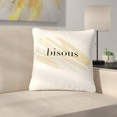 French Kiss Love Outdoor Throw Pillow Size: 18 H x 18 W x 5 D