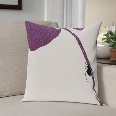 Eensy Weensy Spider Holiday Print Throw Pillow Size: 26 H x 26 W, Color: Purple