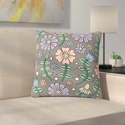 Sarah Oelerich Early Spring Floral Outdoor Throw Pillow Size: 18 H x 18 W x 5 D