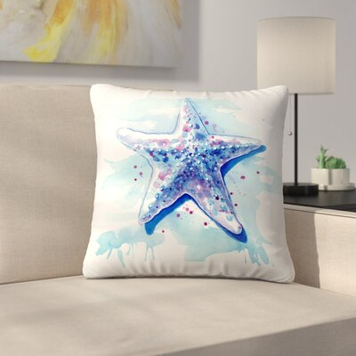 Starfish Waters Throw Pillow Size: 18 x 18