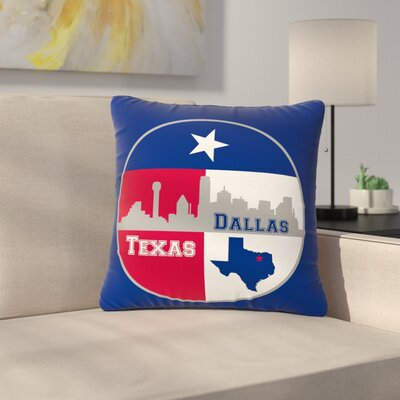 Bruce Stanfield Dallas Texas Outdoor Throw Pillow Size: 16 H x 16 W x 5 D