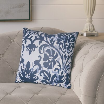Amiyah Throw Pillow Size: 20 H x 20 W x 4 D, Color: Dark Blue