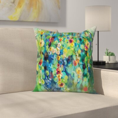 Colorful Flower on Tree Square Pillow Cover Size: 18 x 18