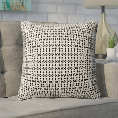 Buariki Throw Pillow Color: Black/Tan, Size: 24 H x 24 W
