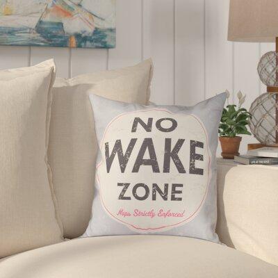 Golden Beach Nap Zone Word Outdoor Throw Pillow Size: 18 H x 18 W, Color: Gray
