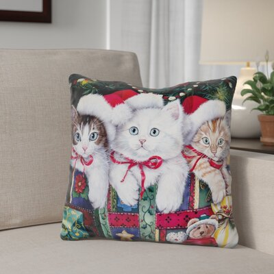 Berkey Meowy Christmas Throw Pillow