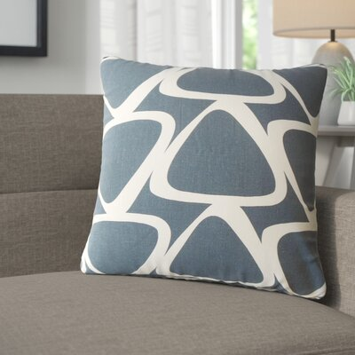 Cherish Geometric Cotton Throw Pillow Color: Blue