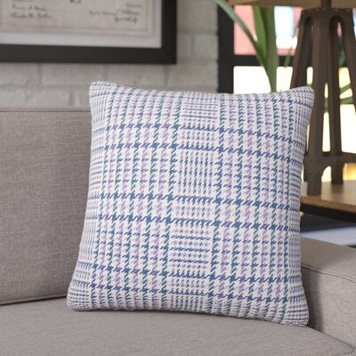 Songy Plaid Cotton Throw Pillow Color: Plum