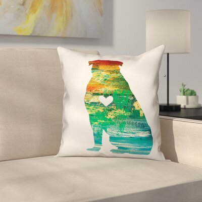 Nunlist Silhouette Rottweiler Throw Pillow in , Cover Only Color: Green/Orange/Yellow, Size: 20 x 20
