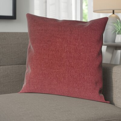 Wagaman Brentwood Woven Decorative Pillow Cover Color: Crimson
