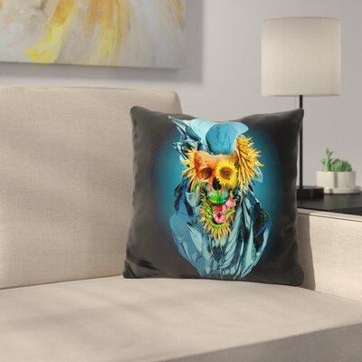 Skull Vivid Throw Pillow