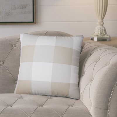 Pompa Plaid Cotton Throw Pillow Color: Sesame