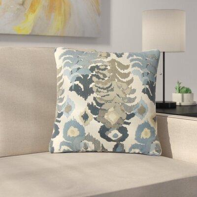 Finklea Summerlin Ikat Throw Pillow Color: Navy