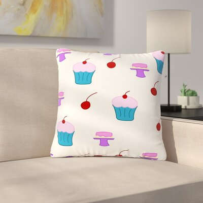 NL Designs Sweet Treats Food Outdoor Throw Pillow Size: 18 H x 18 W x 5 D