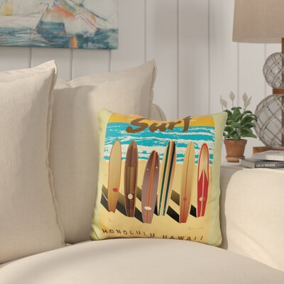 Cambra Surf Throw Pillow