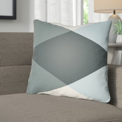 Wakefield Ii Throw Pillow Size: 20 H x 20 W x 5 D, Color: Grey / Light Blue