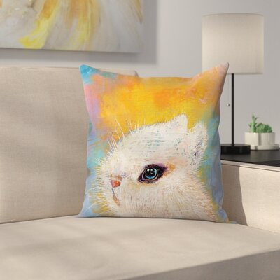 Michael Creese Rabbit Throw Pillow Size: 14 x 14