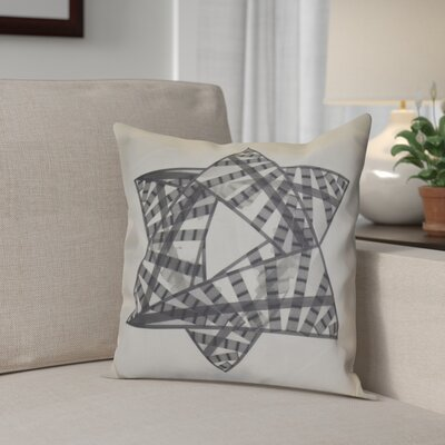Hanukkah 2016 Decorative Holiday Geometric Throw Pillow Size: 18 H x 18 W x 2 D, Color: Gray