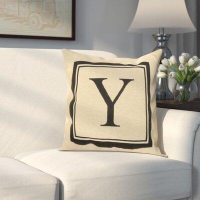 Beaver Creek Monogram Throw Pillow Letter: Y