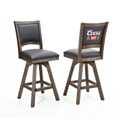 Coors Banquet 30 Swivel Bar Stool (Set of 2)