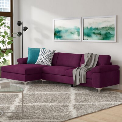 Remm Modern Sectional Color: Purple