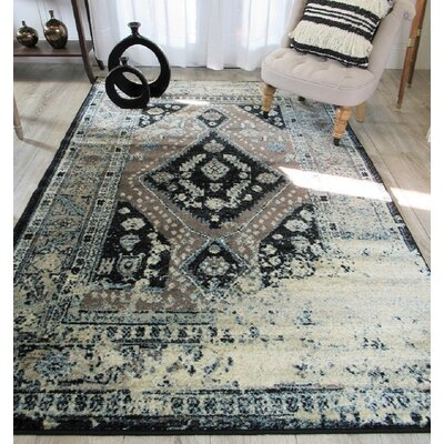 Westling Moroccan Black/Gray Area Rug Rug Size: Rectangle 8 x 11