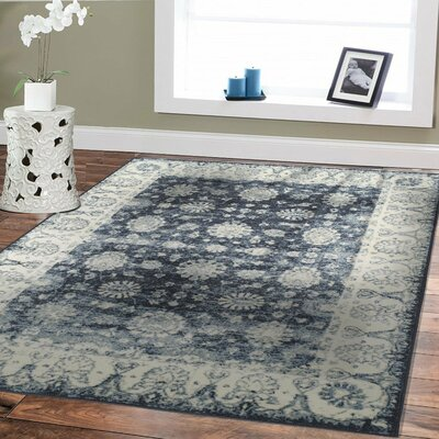 Wilken Moroccan Blue/Gray Area Rug Rug Size: Rectangle 8 x 11