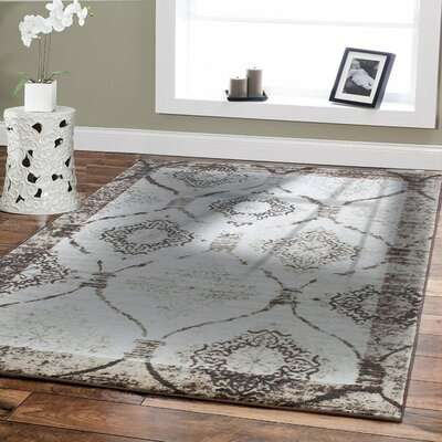 Bayswater Vintage Distressed Brown/Ivory Area Rug Rug Size: Rectangle 8 x 11