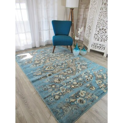 Piatt Foyer Blue/Gray Area Rug Rug Size: Rectangle 2 x 3