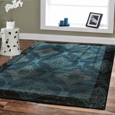 Baysden Distressed Blue Area Rug Rug Size: Rectangle 5 x 8