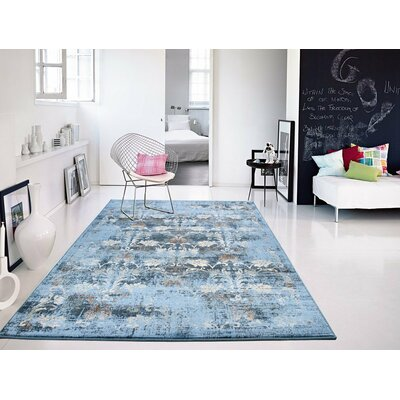 Willoughby Blue Area Rug Rug Size: Rectangle 2 x 3