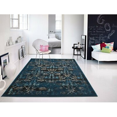 Willowick Navy Blue Area Rug Rug Size: Rectangle 2 x 3