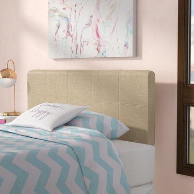 Francis Full Upholstered Panel Headboard Upholstery: Beige