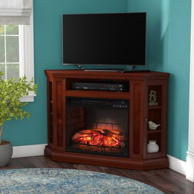 Harger Convertible 48 TV Stand with Fireplace Finish: Brown Mahogany