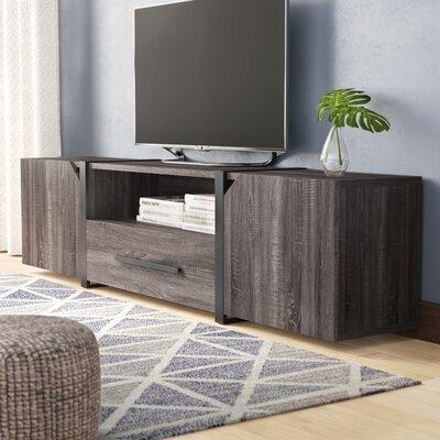 Quaniece Contemporary 81.5 TV Stand Color: Dark Gray/Black