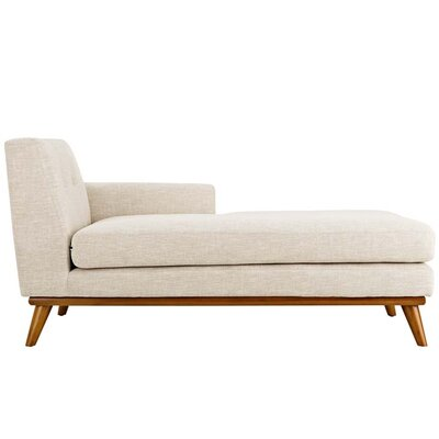 Johnston Chaise Lounge Upholstery: Beige, Orientation: Right Hand Facing