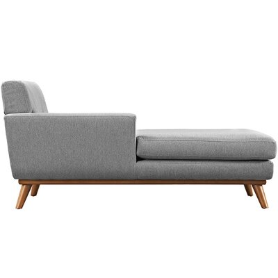 Johnston Chaise Lounge Upholstery: Expectation Gray, Orientation: Left Hand Facing