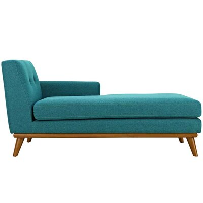 Johnston Chaise Lounge Upholstery: Teal, Orientation: Right Hand Facing