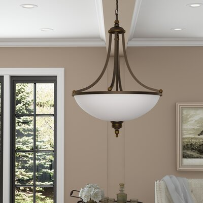 Westerville 3-Light Bowl Pendant Finish: Estate Bronze