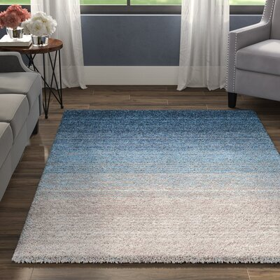 Tyson Hand-Tufted Blue Area Rug Rug Size: Rectangle 4 x 6