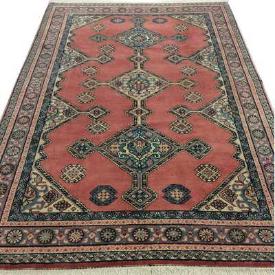 Westbury Ghashghai Hand-Woven Wool Dusty Rose Area Rug Size: Rectangle 87 L x 59 W