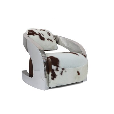 Infinity Brown Cowhide Leather Armchair