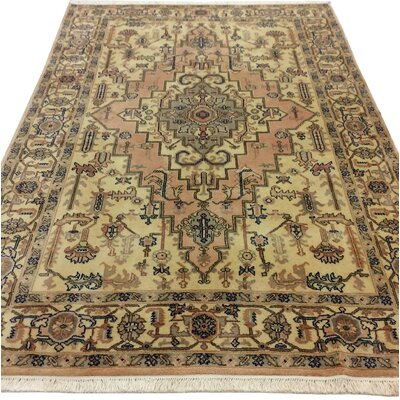 One-of-a-Kind Westbury Park Heriz Hand-Woven Wool Ivory Area Rug Size: Rectangle 810 L x 58 W