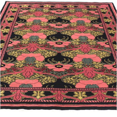 One-of-a-Kind Hand-Woven Wool Red/Yellow Area Rug Size: Rectangle 51 W x 7 L