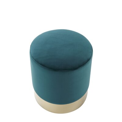 Labonte Ottoman Upholstery: Emerald/Gold